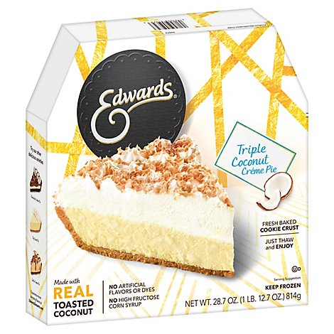 EDWARDS Pie Creme Triple Coconut Box Frozen - 28.7 Oz