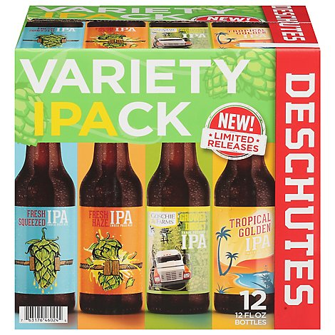 Deschutes Brewery Beer Variety Pack Bottles - 12-12 Fl. Oz.