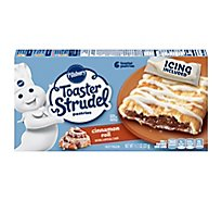 Pillsbury Toaster Strudel Pastries Cinnamon Roll With Brown Sugar 6 Count - 11.7 Oz