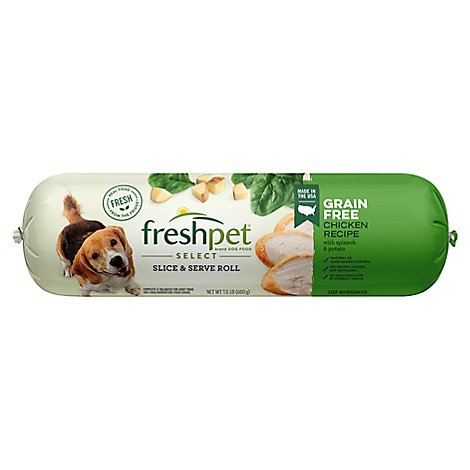 Freshpet Select Dog Food Grain Free Tender Chicken Recipe With Spinach & Potato - 1.5 Lb