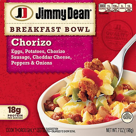 Jimmy Dean Chorizo Egg & Cheese Breakfast Bowl - 7 Oz