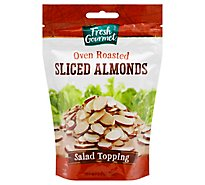 Fresh Gourmet Nut & Fruit Toppings Oven Roasted Sliced Almonds - 3.5 Oz