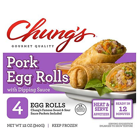 Chungs Egg Rolls Pork - 12 Oz