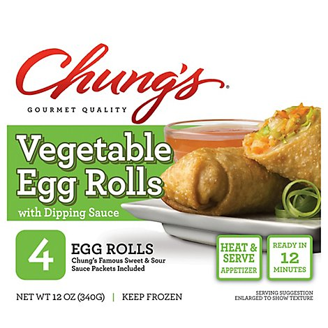 Chungs Egg Rolls Vegetable - 12 Oz