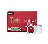 Peets Coffee Coffee K-Cup Packs Deep Roast Holiday Blend - 10 Count
