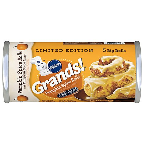 Pillsbury Grands! Pumpkin Spice Rolls Big 5 Count - 17.5 Oz