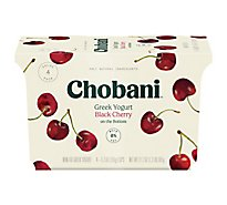 Chobani Yogurt Greek Non-Fat On The Bottom Black Cherry - 4-5.3 Oz