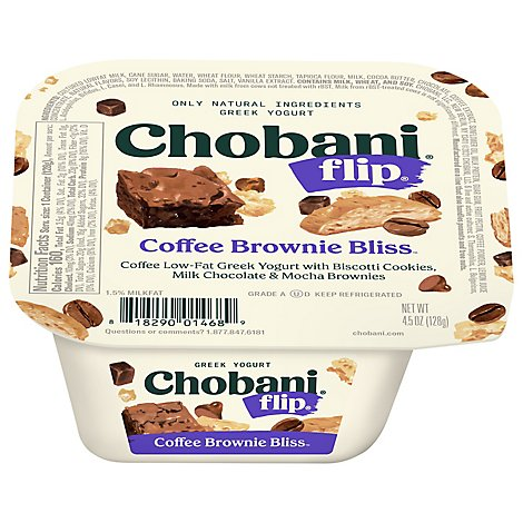 Chobani Flip Yogurt Greek Coffee Brownie Bliss - 5.3 Oz
