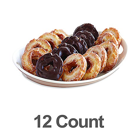 Bakery Donut Old Fashion Variety 12 Count - Each