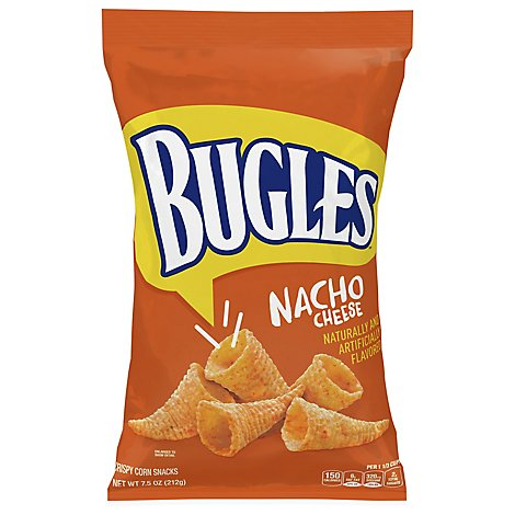 Bugles Snacks Corn Crispy Nacho Cheese Flavor - 7.5 Oz