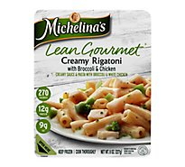 Michelinas Frozen Meal Lean Gourmet Rigatoni Creamy With Broccoli & Chicken - 8 Oz