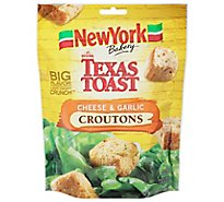 New York The Original Texas Toast Croutons Cheese & Garlic - 5 Oz