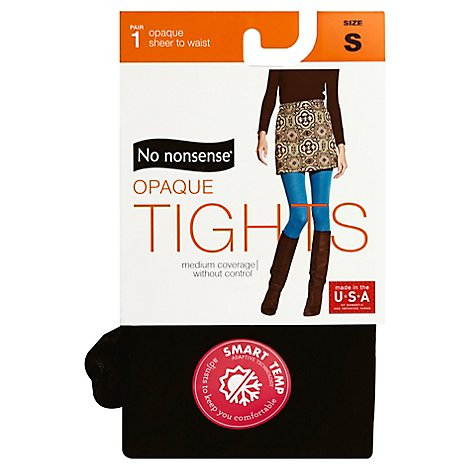 No Nonsense Opaque Stw Tights Black Sml - Each