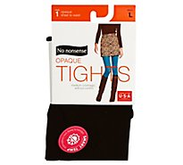 No Nonsense Sheer To Wst Tight Black Large - Each