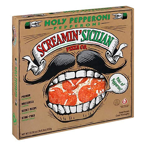 Screamin Sicilian Pizza Holy Pepperoni Frozen - 22.3 Oz