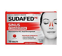 Sudafed PE Congestion Tablets Maximum Strength 10 mg - 18 Count