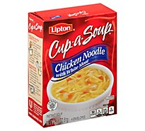 Lipton Cup-a-Soup Soup Instant Chicken Noodle with White Meat 4 Count - 1.8 Oz