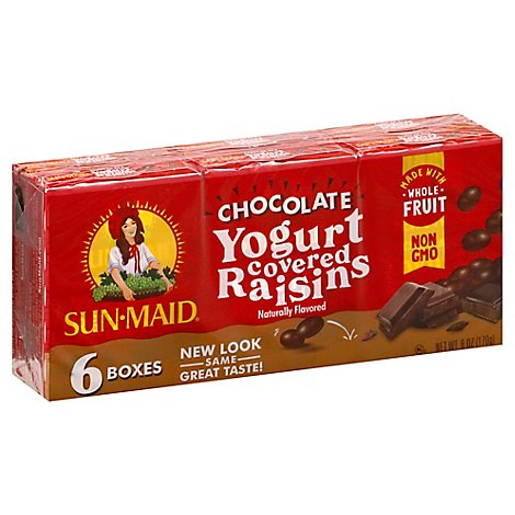 Sun-Maid Raisins Dark Chocolate Yogurt - 6-1 Oz