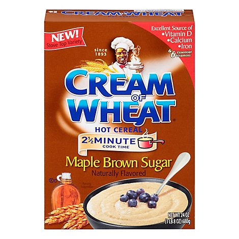 Cream Of Wheat Cereal Hot Maple Brown Sugar - 24 Oz