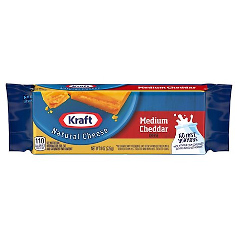 Kraft Natural Cheese Cheddar Medium - 8 Oz