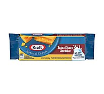 Kraft Natural Cheese Cheddar Extra Sharp - 8 Oz