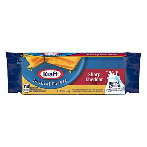Kraft Cheese Natural Sharp Cheddar - 8 Oz