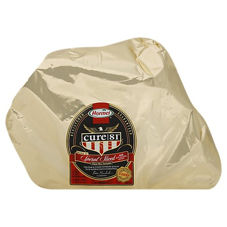 Hormel Cure 81 Ham Spiral Sliced Bone In Half - 10 Lb