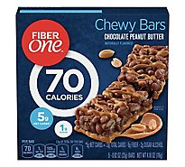 Fiber One Chewy Bars 90 Calories Chocolate Peanut Butter - 5-0.82 Oz