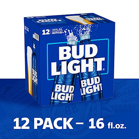 Bud Light Beer Bottle Aluminum - 12-16 Fl. Oz.
