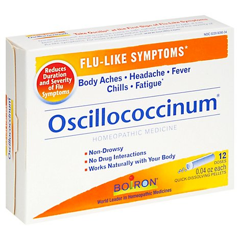 Boiron Oscillococcinum Flu-Like Symptoms Quick-Dissolving Pellets - 12 Count