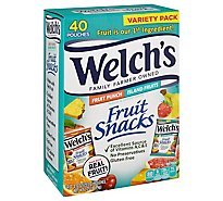 Welchs Fruit Snacks Fruit Punch And Island Fruits Combo Pack 40 Count - 36 Oz
