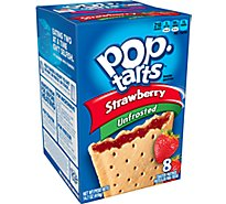 Pop-Tarts Toaster Pastries Unfrosted Strawberries 8 Count - 14 Oz