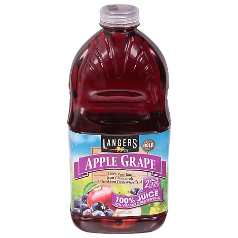 Langers Juice Gold Medal Pure Apple Grape - 64 Fl. Oz.
