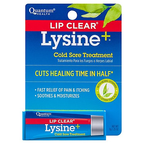 Quantumn Health Lip Clear Cold Sore Treatment - 0.25 Oz