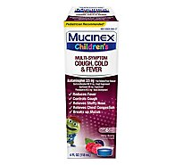 Mucinex Childrens Liquid Medicine Multi-Symptom Cold & Fever Berry Blast - 4 Fl. Oz.