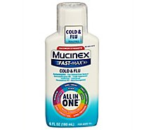 Mucinex Fast-Max Cold & Flu Medicine All in One Maximum Strength Liquid - 6 Fl. Oz