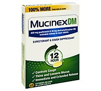 Mucinex DM Expectorans & Cough Suppressant 12 Hours Relief Extended Release Tablets - 40 Count