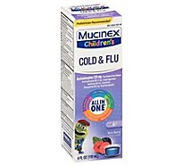 Mucinex Childrens Liquid Medicine Cold Cough & Sore Throat Mixed Berry - 4 Fl. Oz.