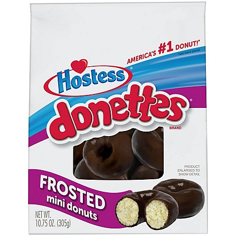 Hostess Frosted Bagged Donettes 25% More - 14.07 Oz