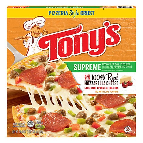 Tonys Pizzeria Pizza Supreme Frozen - 20.6 Oz
