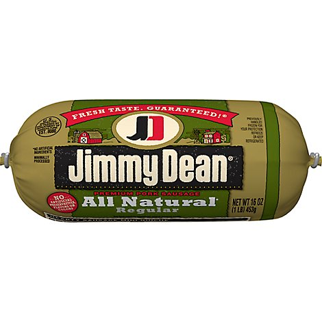 Jimmy Dean Premium All Natural Pork Sausage Roll 16 Oz