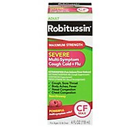 Robitussin CF Max Severe Cough Cold + Flu Relief Maximum Strength - 4 Fl. Oz.