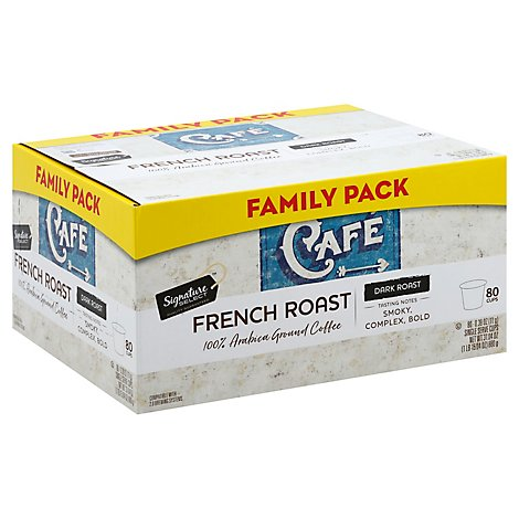 Signature SELECT Coffee K-Cup Pods Single Serve Arabica Dark Roast French Roast - 80-0.39 Oz