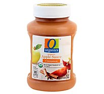 O Organics Organic Apple Sauce Cinnamon - 24 Oz