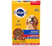 PEDIGREE Dog Food Dry For Adult Complete Nutrition Steak & Vegetable Bag - 20.4 Lb