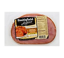 Smithfield Anytime Favorites Ham Steak Boneless Honey Cured 97% Fat Free - 8 Oz