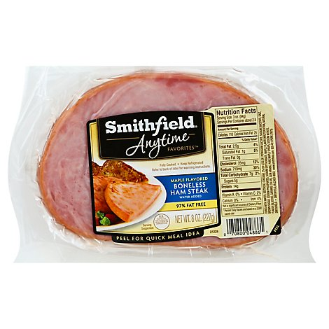 Smithfield Anytime Maple Boneless Ham Steak - 8 Oz