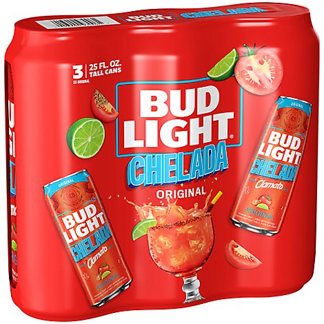 Chelada Bud Light In Cans - 3-25 Fl. Oz.