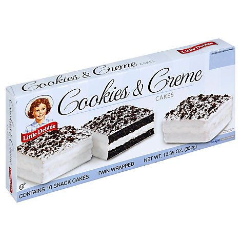 Little Debbie Cakes Cookies And Creme - 12.39 Oz