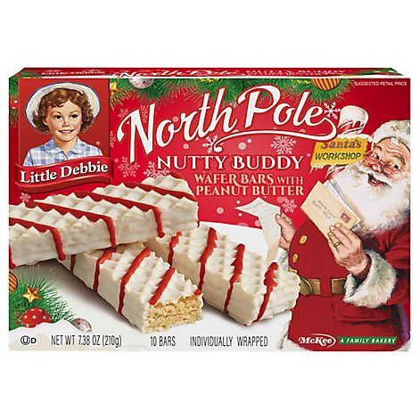 Little Debbie Nutty Bars North Pole - 7.38 Oz